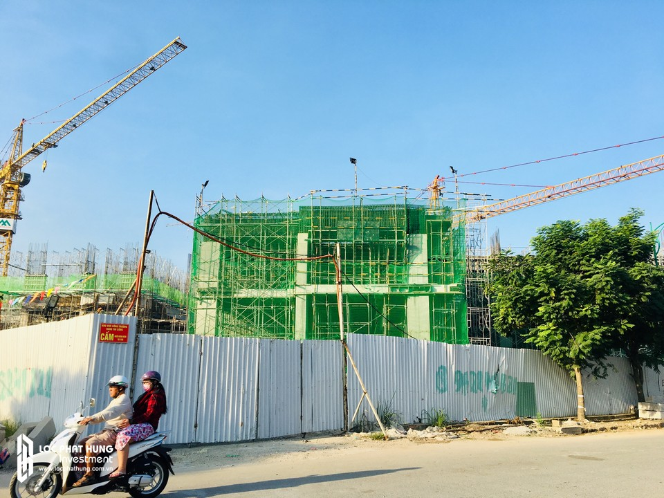 Tiến độ xây dựng căn hộ chung cư Eco Green Sài Gòn Quận 7 ngày 07/12/2018