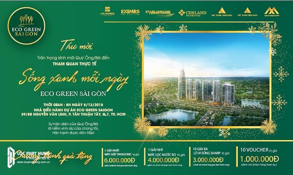 Thư mời công bố dự án ngày 09/12/2018 Eco Green Sài Gòn Quận 7