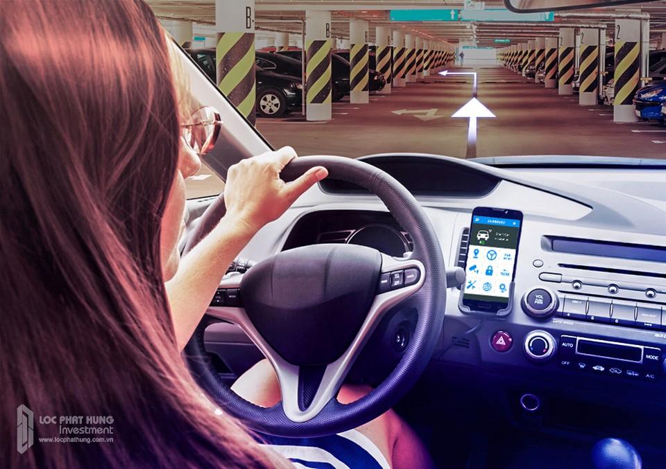 Công nghệ dẫn lối xe vào hầm và lấy xe chính xác dựa trên app Sunshine giảm thiểu thời gian tìm kiếm xe nếu quên vị trí để xe. Khách hàng có thể book chỗ đậu xe trước khi xe về hầm để chủ động về chỗ đậu xe hơi tại hầm.