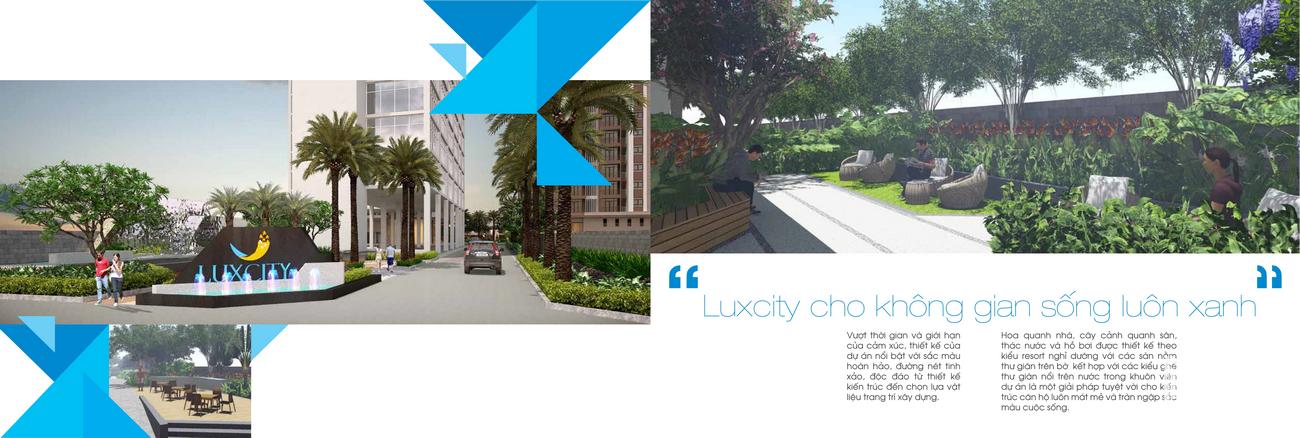 Tiện ích dự án căn hộ Luxcity Quận 7 Đường Huỳnh Tấn Phát chủ đầu tư Đất Xanh