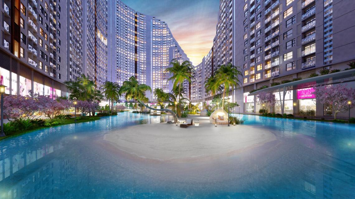 Tiện ích Biển Đảo Nhân Tạo dự án căn hộ