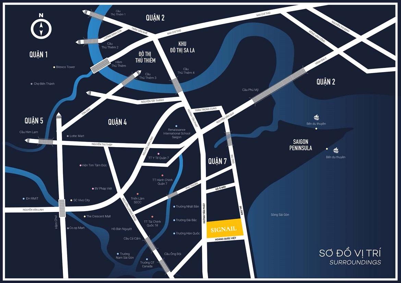 Vị trí địa chỉ dự án căn hộ Smartel Signial Quận 7