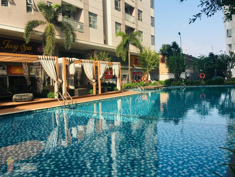 Hình ảnh bể bơi dự án căn hộ chung cư Luxcity Quận 7