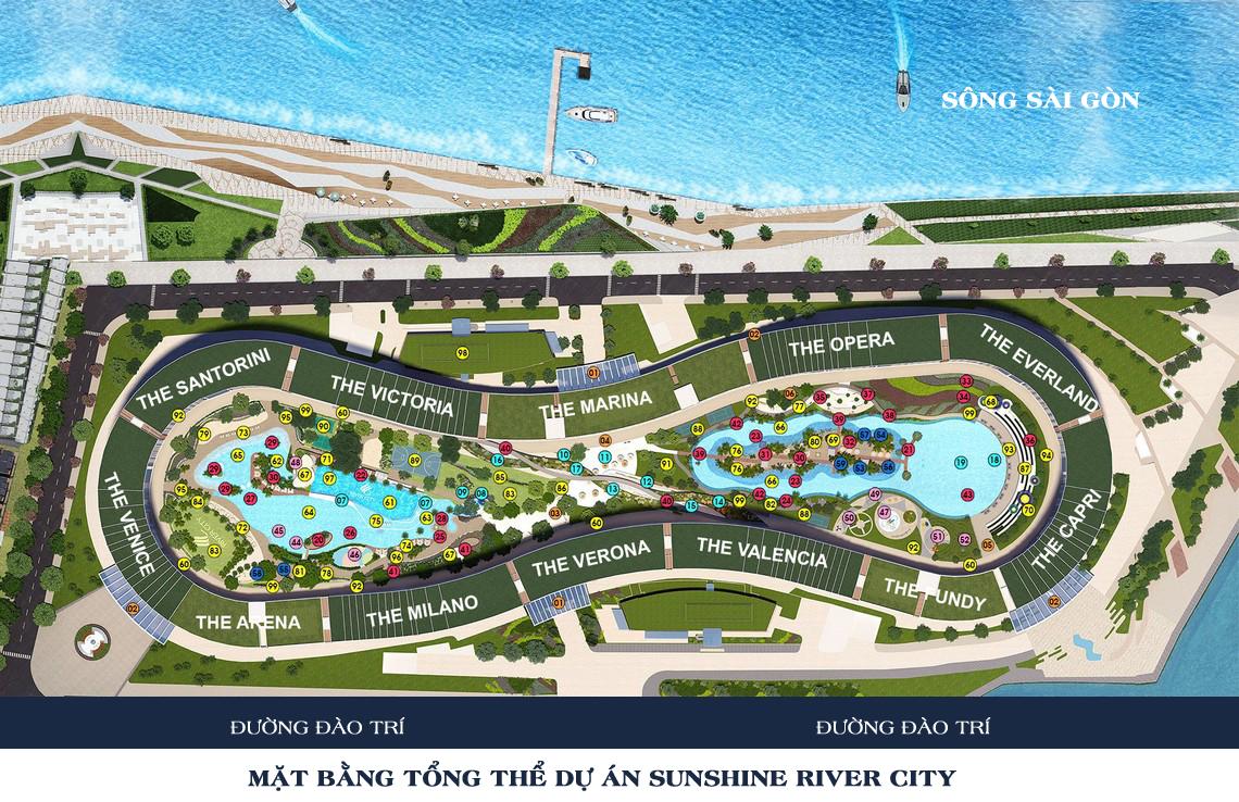 Mặt bằng tổng thể dự án căn hộ chung cư Sunshine River City Quận 7