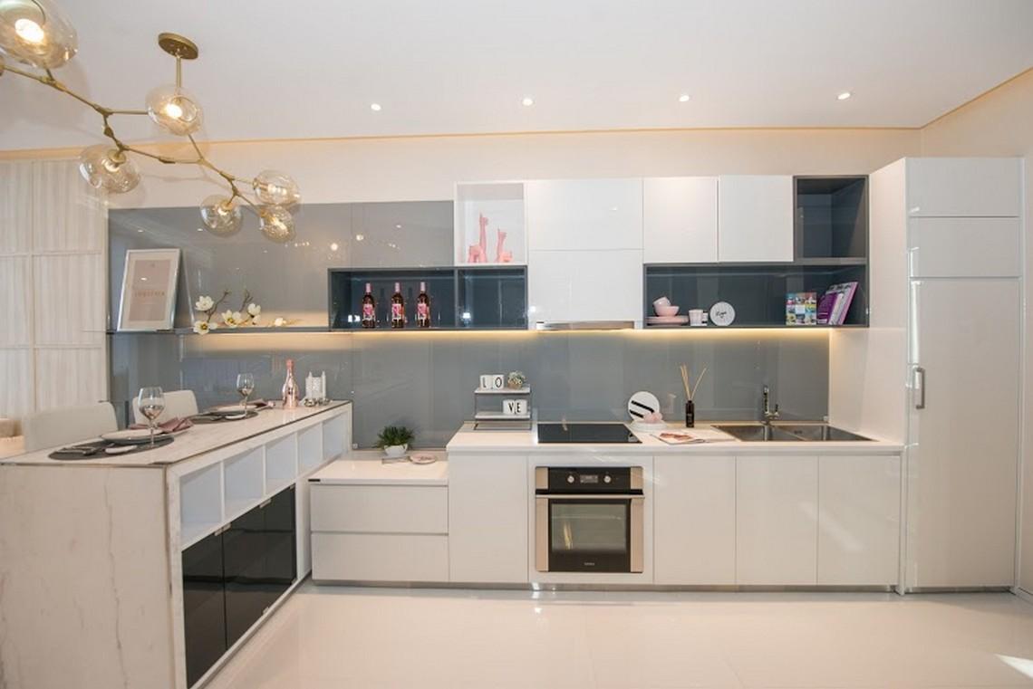 Thiết kếkhu vực bếp căn hộ chung cư River City Quận 7 diện tích 55m2