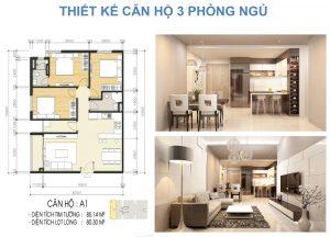 Cho thuê  giá tốt chung cư luxcity quận 7 85m2 3 phòng ngủ view đẹp