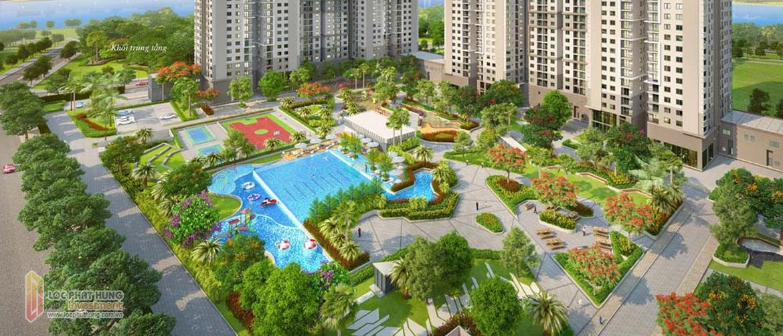 Tiện ích bể bơi dự án GS Sài Gòn Nhà Bè