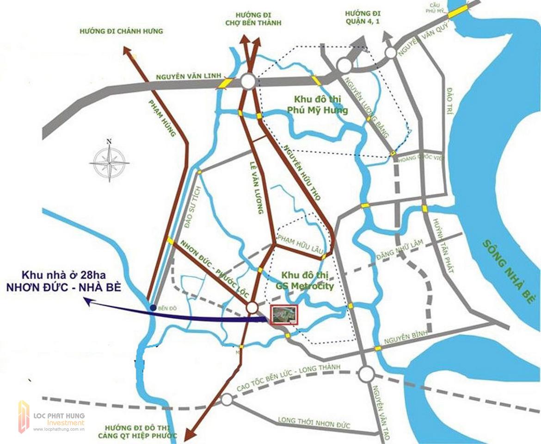 Vị trí dự án GS Sai Gòn Nhà Bè