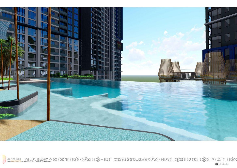 Tiện ích bể bơi dự án căn hộ The Riviera point