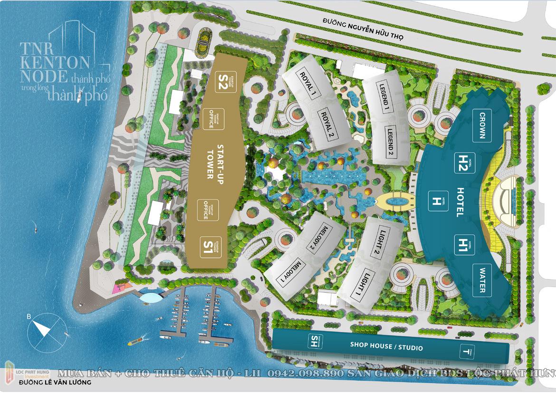 Mặt bằng dự án căn hộ Tnr Kenton Node Quận 7