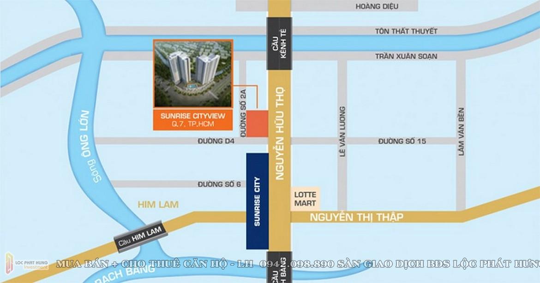 Vị trí căn hộ Chung  cư Sunrise City View Quận 7