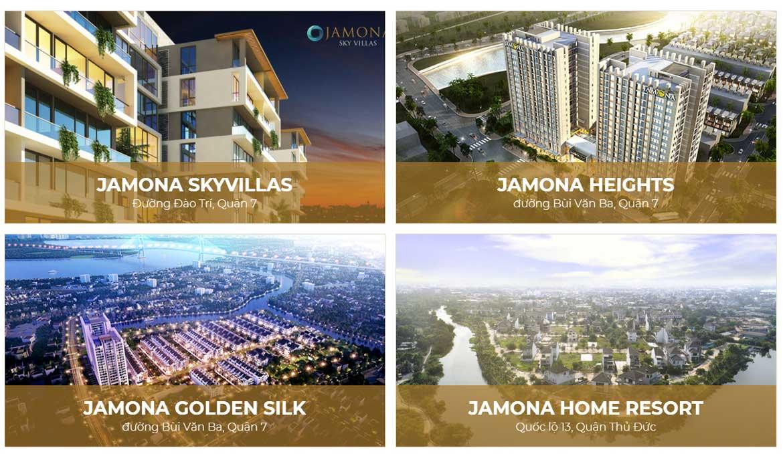 Các dự án chủ đầu tư dự án căn hộ chung cư Jamona Heights Quận 7 Đường Bùi Văn Ba chủ đầu tư TTC Land đã và đang triển khai.