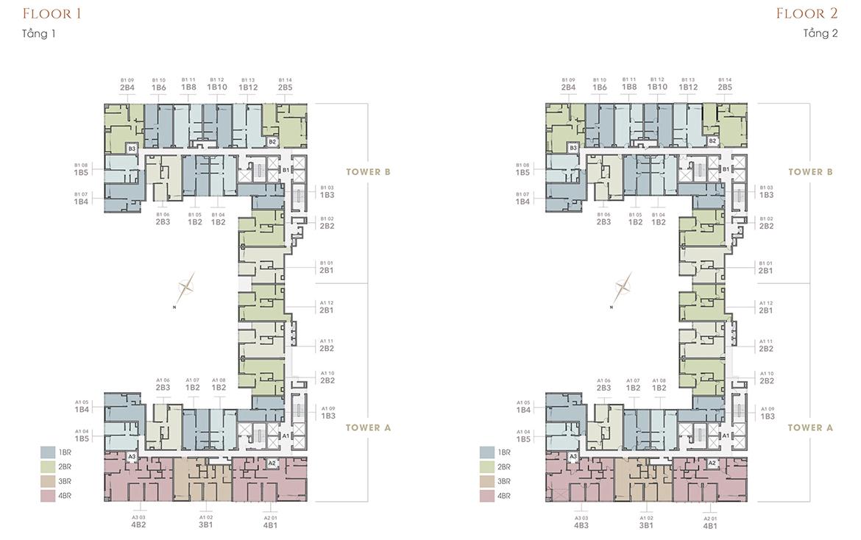Mặt bằng dự án căn hộ chung cư The Marq Quận 1 Đường Phú Thuận chủ đầu tư HongKong Land