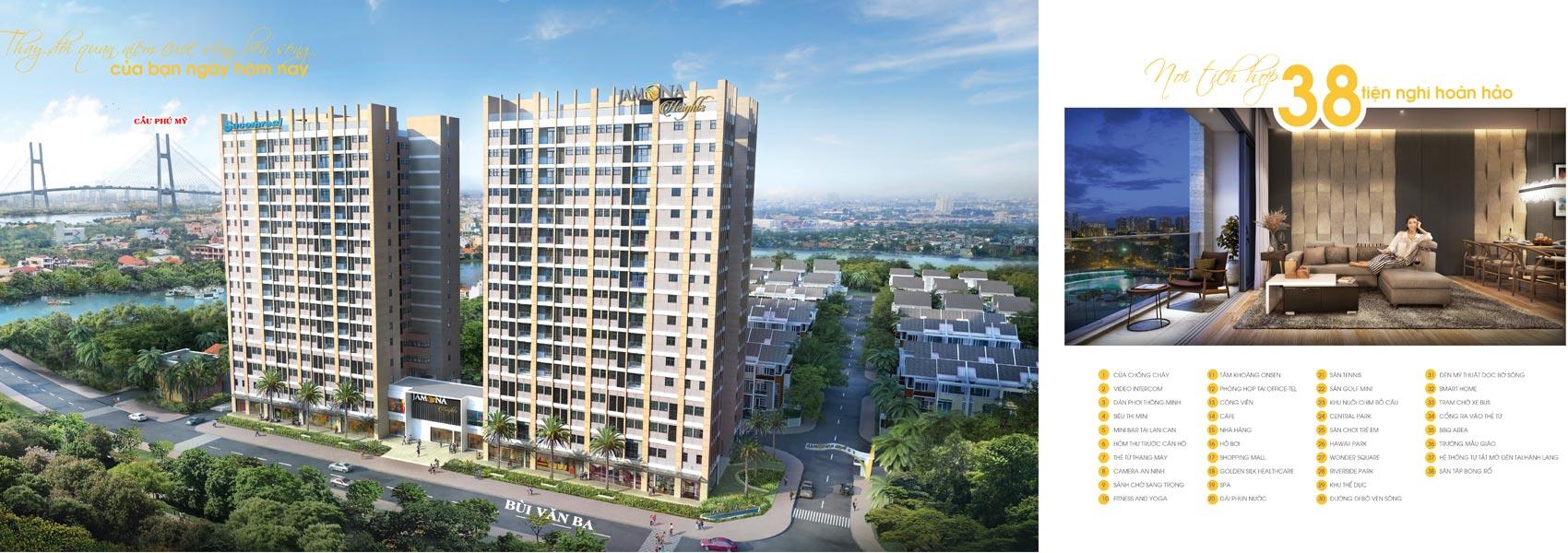 Mua bán cho thuê dự án căn hộ chung cư Jamona Heights Quận 7 Đường Bùi Văn Ba chủ đầu tư TTC Land