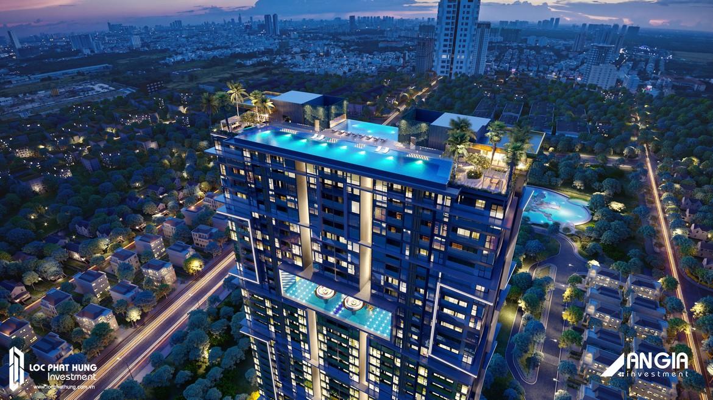 Phối cảnh tổng thể dự án căn hộ Sky 89 Quận 7 đường Đào Trí
