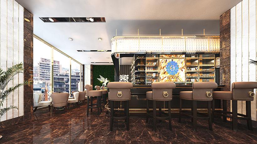 Nhà hàng Á Âu trong nội khu căn hộ chung cư Sunshine River City Quận 7