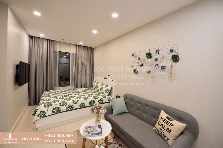 Thiết kế phòng khách căn hộ mẫu Vinhomes Grand Park diện tích 30.9m2 - Liên hệ SGD BĐS Lộc Phát Hưng 0942.098.890 Xem nhà mẫu + Xem thực tế + Chính sách bán hàng Vinhomes Grand Park