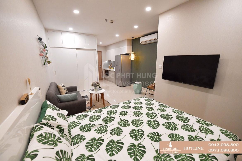 Thiết kế phòng ngủ và phòng khách căn hộ mẫu Vinhomes Grand Park diện tích 30.9m2 - Liên hệ SGD BĐS Lộc Phát Hưng 0942.098.890 Xem nhà mẫu + Xem thực tế + Chính sách bán hàng Vinhomes Grand Park