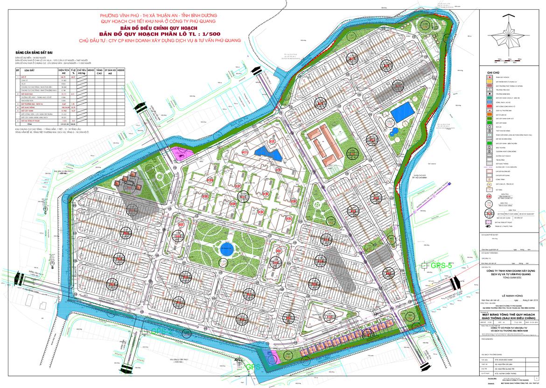 Mặt bằng dự án đất nền nhà phố Island Riverside Bình Dương Đường Ngô Chí Quốc chủ đầu tư Hoa Lâm