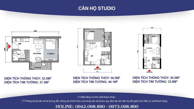 Thiết kế căn hộ Studio Vinhomes Grand Park diện tíh từ 33m2 đến 40m2 -  - Liên hệ SGD BĐS Lộc Phát Hưng 0942.098.890 Xem nhà mẫu + Xem thực tế + Chính sách bán hàng Vinhomes Grand Park