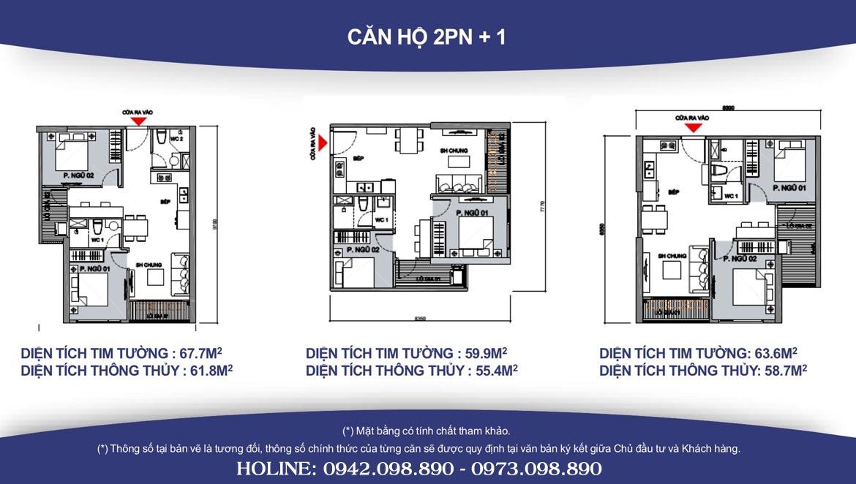 Thiết kế căn hộ 2PN +1 Vinhomes Grand Park diện tích từ 63m2 đến 67m2 - Liên hệ SGD BĐS Lộc Phát Hưng 0942.098.890 Xem nhà mẫu + Xem thực tế + Chính sách bán hàng Vinhomes Grand Park