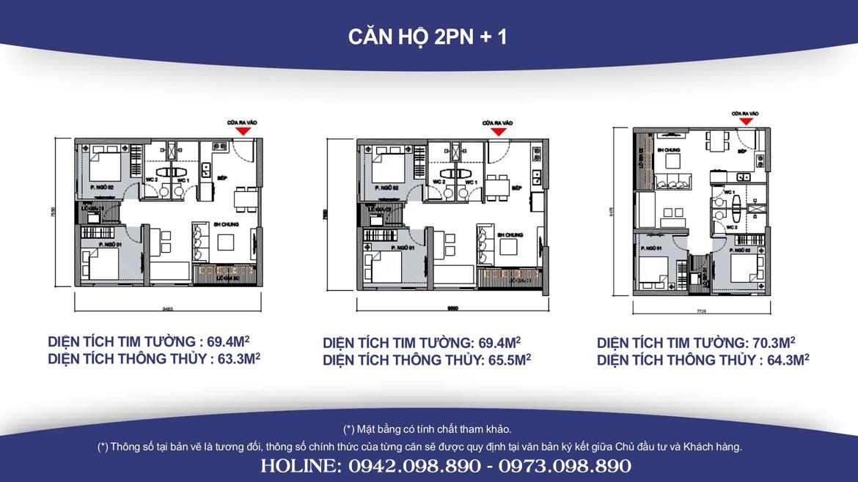 Thiết kế căn hộ 2PN +1 Vinhomes Grand Park diện tích từ 69m2 đến 70m2- Liên hệ SGD BĐS Lộc Phát Hưng 0942.098.890 Xem nhà mẫu + Xem thực tế + Chính sách bán hàng Vinhomes Grand Park