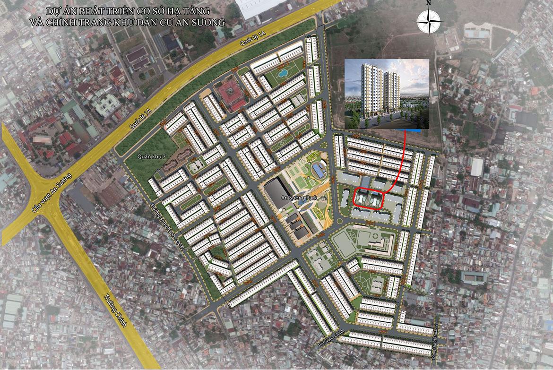 Vị trí địa chỉ dự án căn hộ chung cư An Sương I Park Quận 12