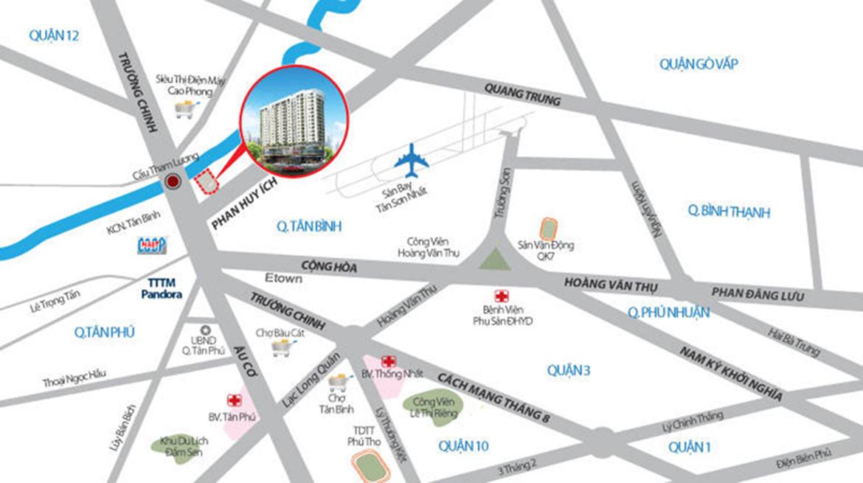 Vị trí địa chỉ dự án căn hộ chung cư Fico Star Quận Tân Bình Đường Phan Huy Ích chủ đầu tư Fico