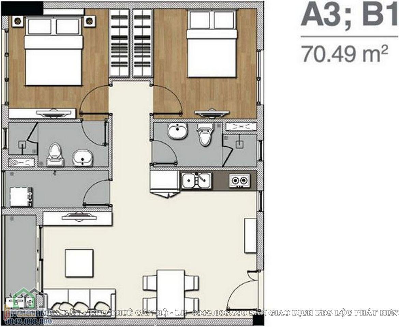 Thiết kế  căn hộ chung cư Florita Quận 7