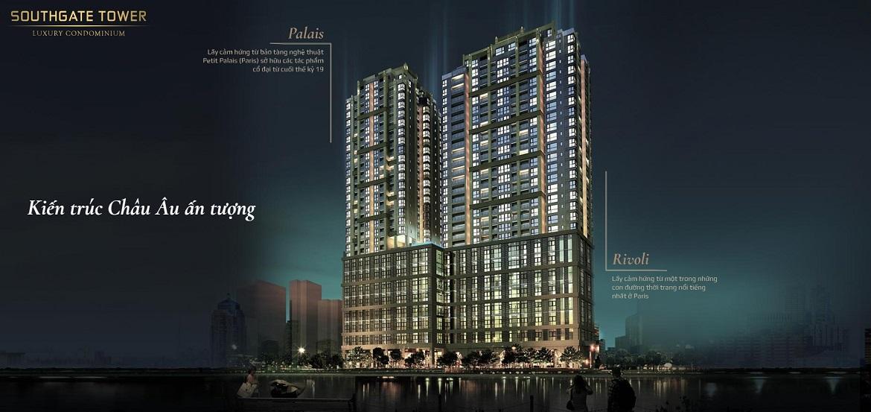 Kiến trúc dự án căn hộ South Gate Tower Quận 7