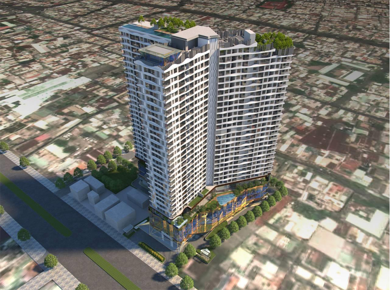 Phối cảnh ban ngày dự án căn hộ D-Homme đường Hồng Bàng Quận 6