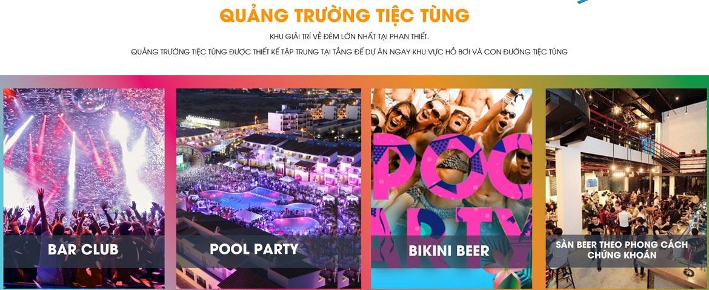 Tiện ích Quảng Trường Tiệc Tùng dự án căn hộ biệt thự condotel Mũi Né Summer Land Phan Thiết