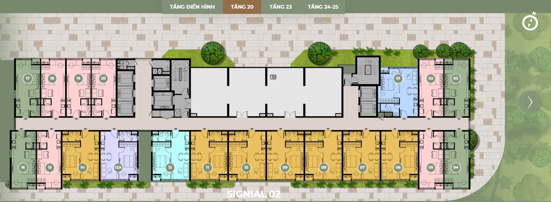Mặt bằng thiết kế S2 tầng 20 dự án Smartel Signial quận 7.Mặt bằng thiết kế S2 tầng 20 dự án Smartel Signial quận 7.