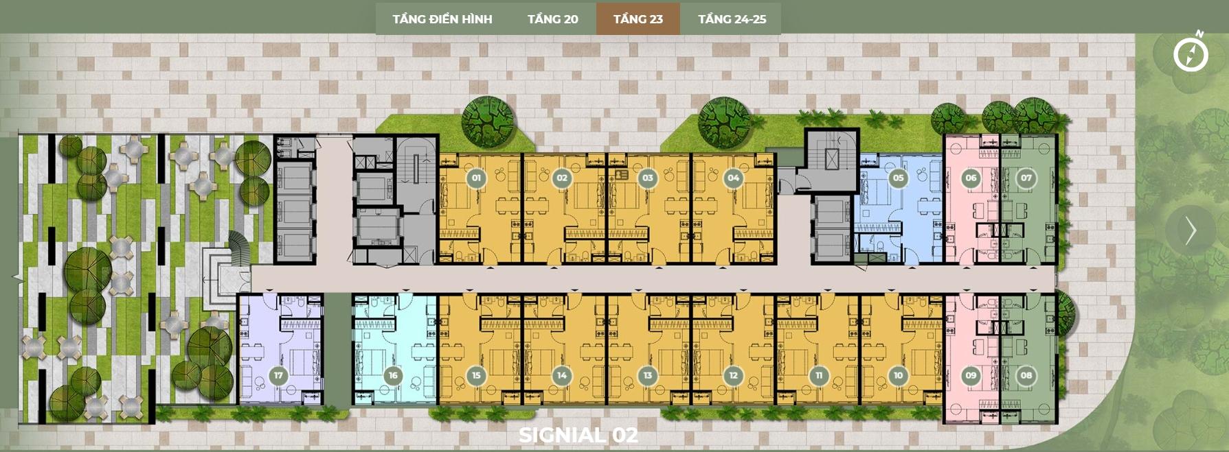 Mặt bằng thiết kế S2 tầng 23 dự án Smartel Signial quận 7.Mặt bằng thiết kế S2 tầng 23 dự án Smartel Signial quận 7.