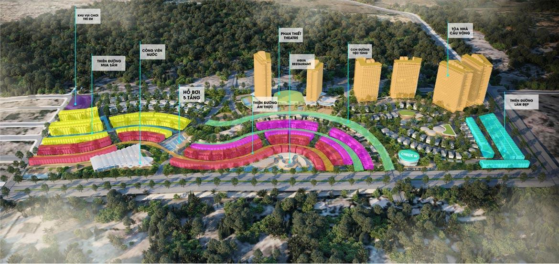 Sơ đồ bố tiện ích dự án Mũi Né Summer Land Phan Thiết