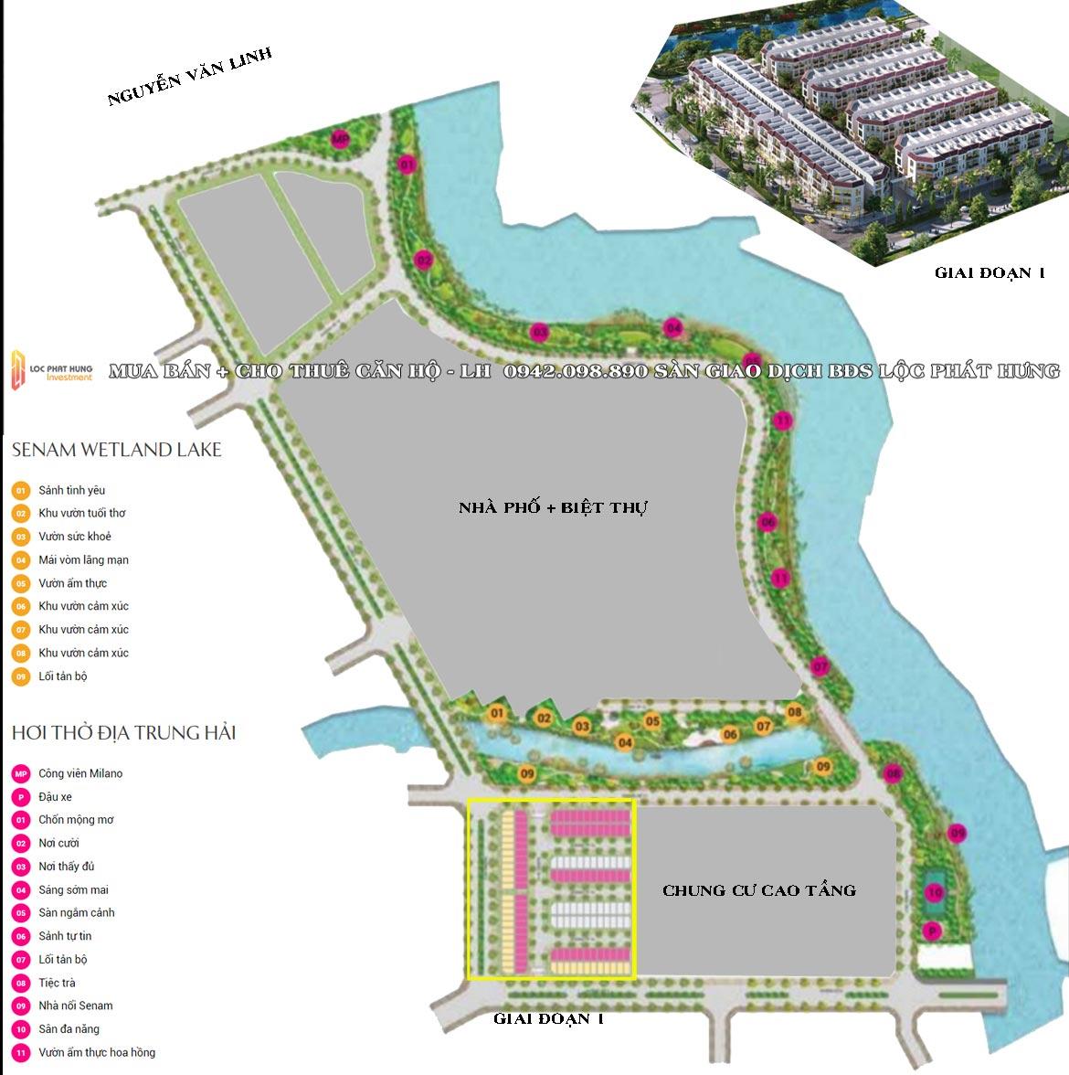 Sơ đồ vị trí giai đoạn 1 dự án Senturia Nam Sài Gòn Bình Chánh