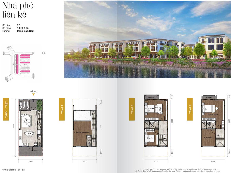 Thiết kế nhà phố liền kề diện tích 5x12m dự án Senturia Nam Sài Gòn Bình Chánh