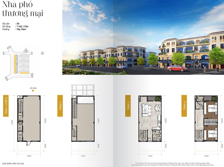 Thiết kế nhà phố thương maiị diện tích 5x12m dự án Senturia Nam Sài Gòn Bình Chánh