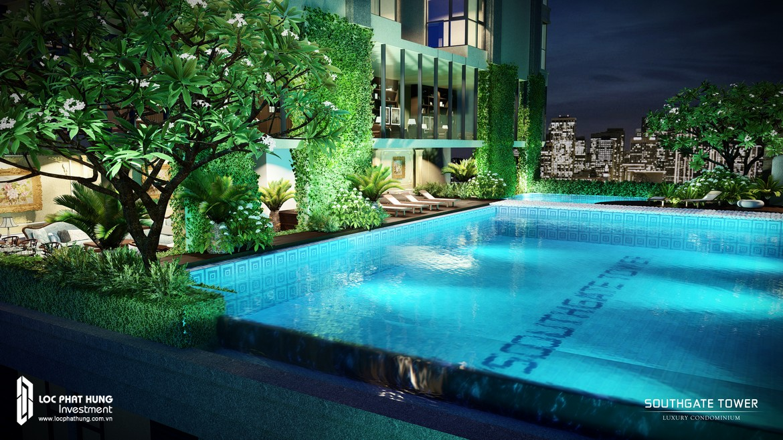 Tiện ích bể bơi dự án căn hộ chung cư South Gate Tower