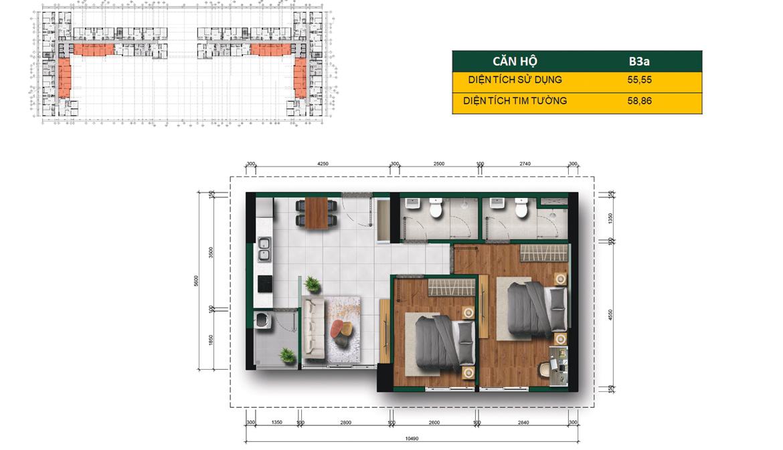 Thiết kế chi tiết căn hộ La Premier Quận 2