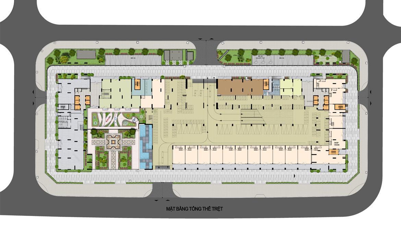 Mặt bằng tầng trệt căn hộ chung cư La Premier Quận 2 đường Võ Chí Công