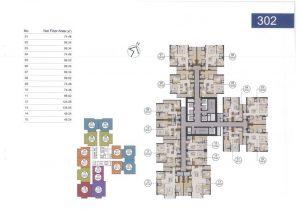Mặt bằng thiết kế chi tiết căn hộ Laimian City 1 phòng ngủ