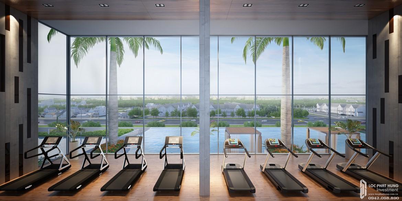 Tiện ích phòng Gym hồ bơi nội khu căn hộ chung cư La Premier Thạnh Mỹ Lợi Quận 2