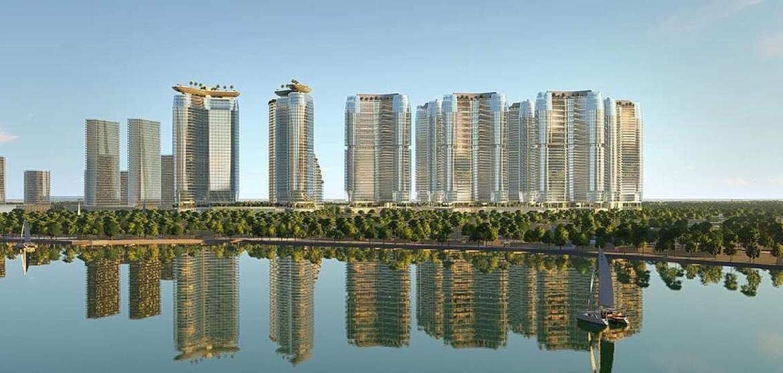 Phối cảnh tổng thể căn hộ chung cư Sunshine Diamond River mặt t view sông Sài Gòn Quận 7