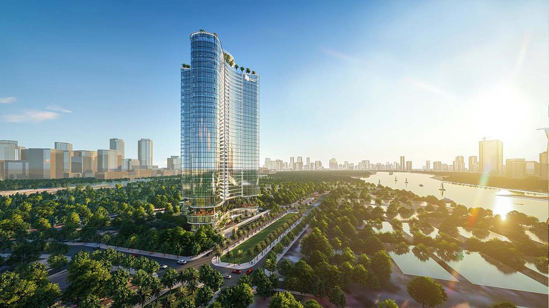 Phối cảnh ven sông dự án căn hộ chung cư Sunshine Venicia Quận 2 Đường Thủ Thiêm chủ đầu tư Sunshine Group