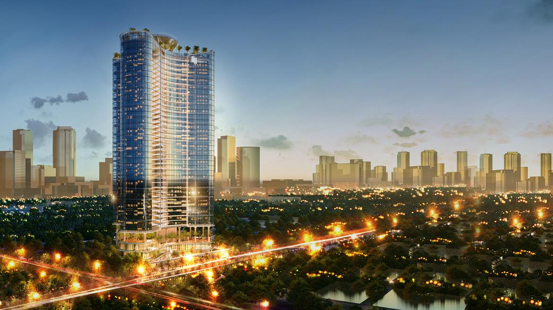 Phối cảnh ban đêm dự án căn hộ chung cư Sunshine Venicia Quận 2 Đường Thủ Thiêm chủ đầu tư Sunshine Group