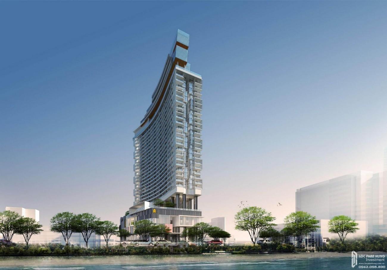 Phối cảnh tổng thể dự án Condotel chung cư AB Central Square  Đường Trần Phú chủ đầu tư A&B Development Corp.
