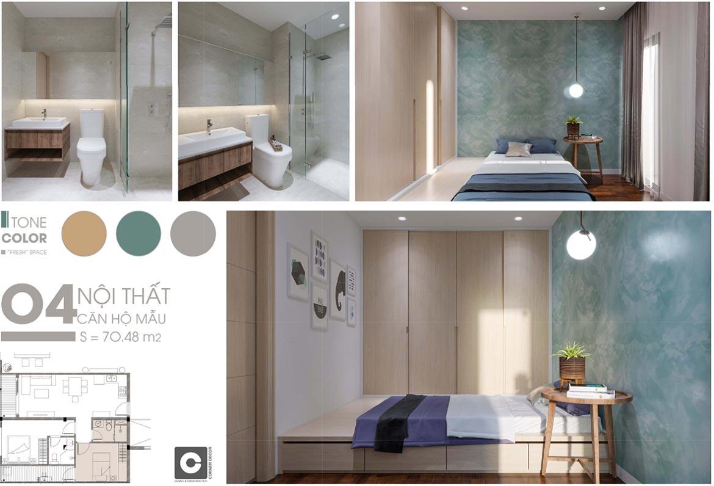Nhà mẫu căn hộ chung cư C Skyview Bình Dương