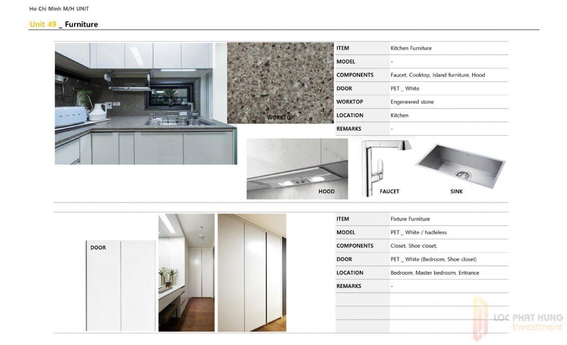 Nội thất diện tích 49m2 dự án căn hộ chung cư Laimian City Quận 2 Đường Lương Đình Của chủ đầu tư HDTC