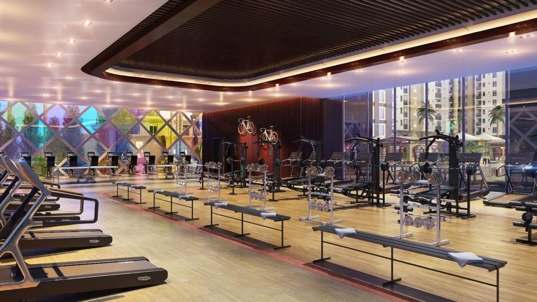 Tiện ích phòng Gym căn hộ chung cư C SKyview Bình Dương Thủ Dầu Một